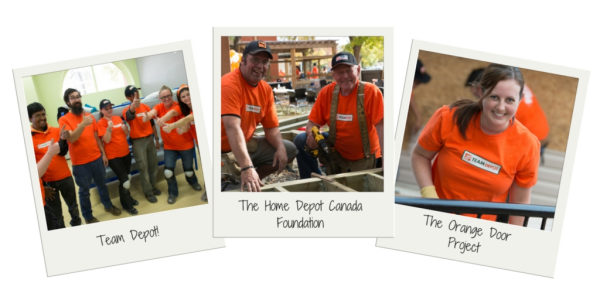 Home Depot Canada Foundation celebrating Orange Shirt Day volunteering at YESS