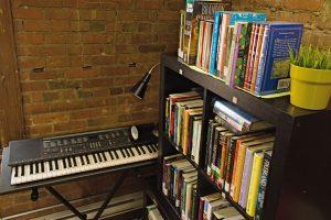 Shelves full of books in the ARC Reading Room