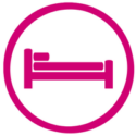 Bed icon for gift of shelter