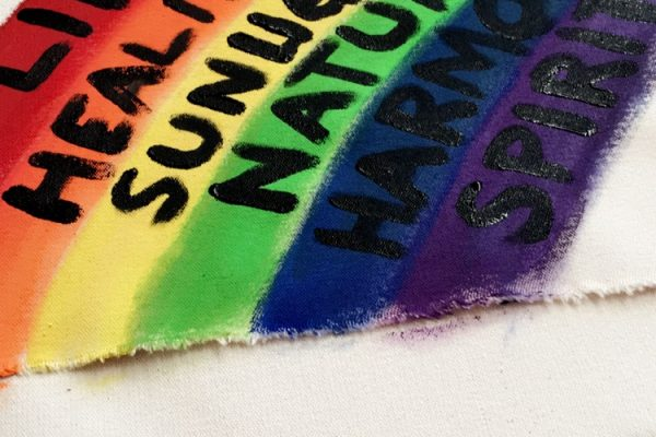 Youth rainbow art celebrating Pride Day