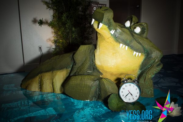 Captain Hook's Crocodile at the YESS Neverland Gala
