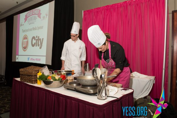 YESS Chef Showdown team at their cooking station