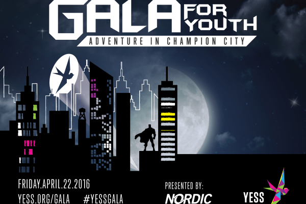 YESS Gala 2016 comic book skyline