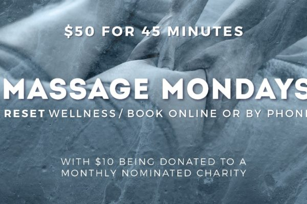 RESET Wellness Massage Mondays