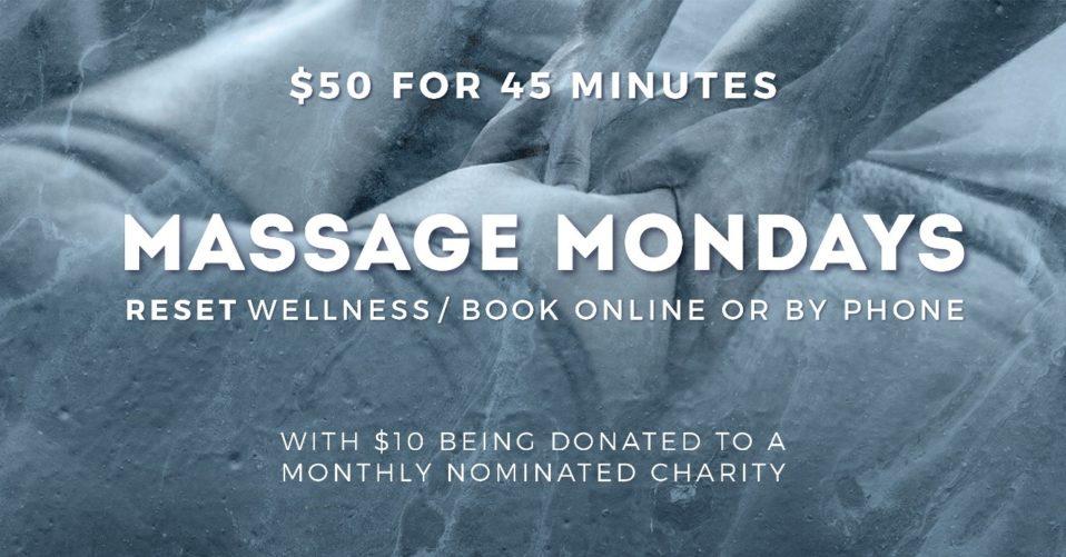 RESET Wellness Massage Mondays