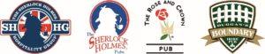 Sherlock Holmes Hospitality Group logo lineup